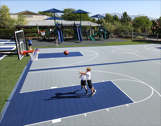 Fun, Colorful Basketball Courts