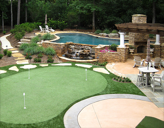Design For Backyard lanmark designs | backyard golf green design